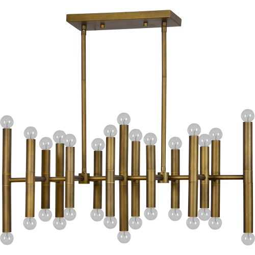 Shad Ceiling Fixture - Antique Brass