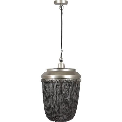Irvon Ceiling Fixture - Natural Zinc/Black