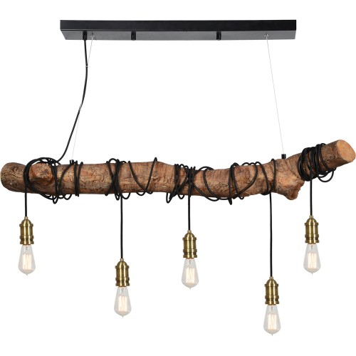 Suma Ceiling Fixture - Natural Wood