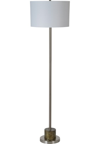 Stockwell Floor Lamp - Brushed Nickel/Rustic Antique Bronze