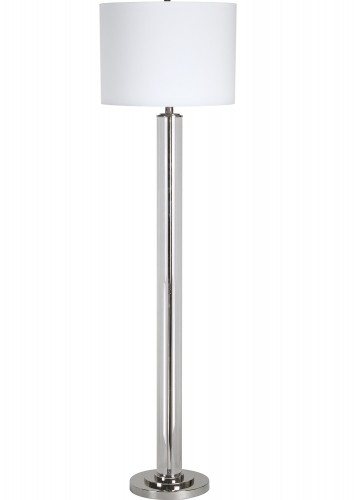 Beacon Floor Lamp - Clear/Chrome