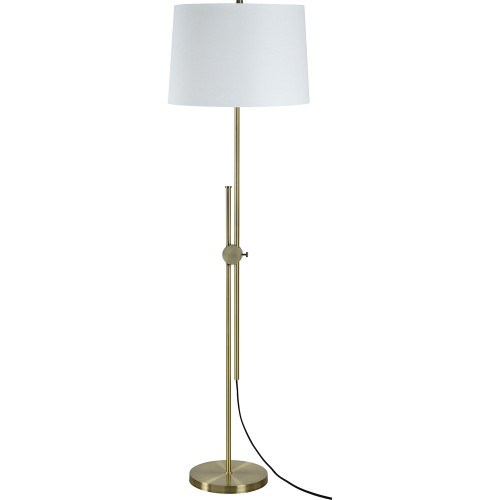 Nobel Floor Lamp - Antique Brass