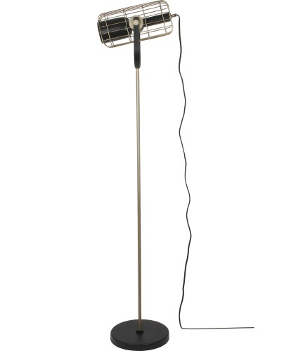 Moreland Floor Lamp - Antique Silver/Matte Black