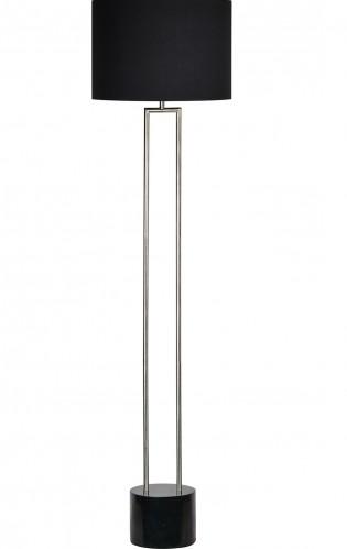 Lillian Floor Lamp - Satin Nickel/Black Marble