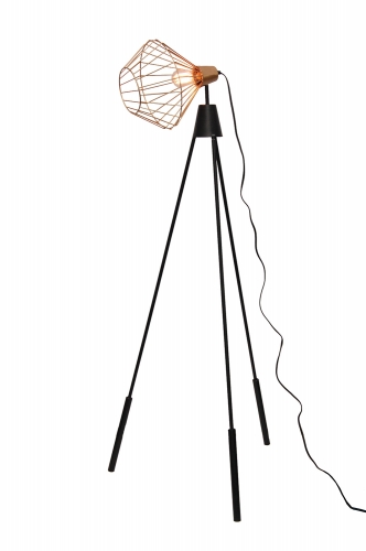 Elington Floor Lamp - Brass/Black