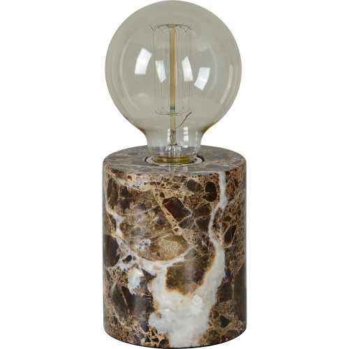 Banstead Table Lamp - Brown Marble