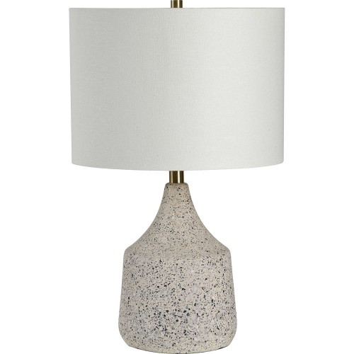 Longmore Table Lamp - Beige Cement/Stone Speckles