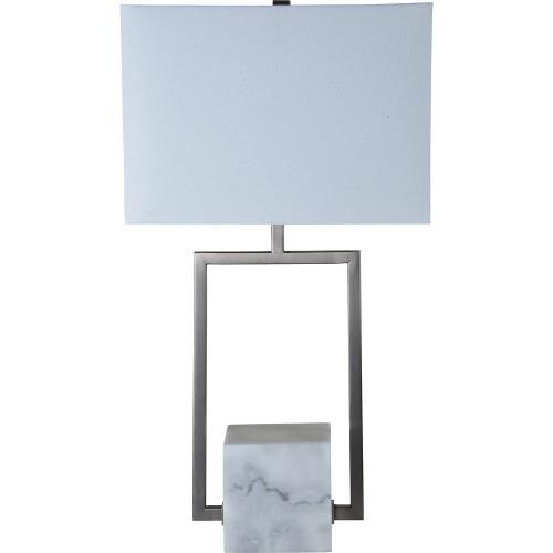Bucannan Table Lamp - White Marble Finish
