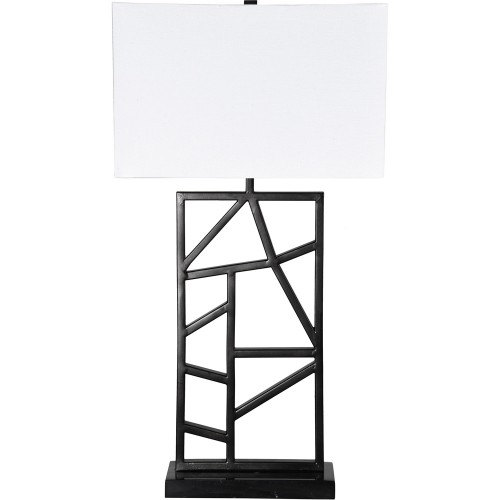 Kingswood Table Lamp - Black Marble