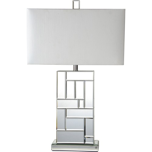 Sabin Table Lamp - Silver Mirror