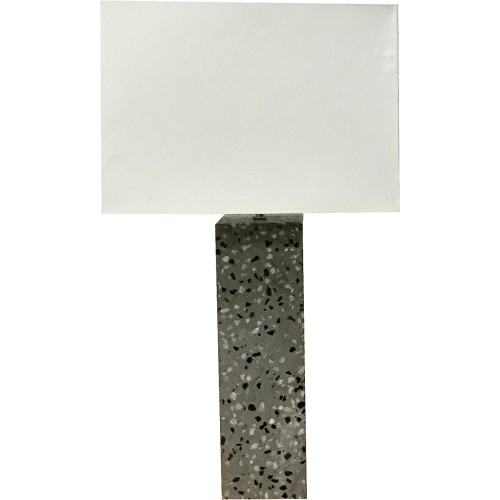 Micaela Table Lamp - Natural Concrete/Natural Marble Speckles