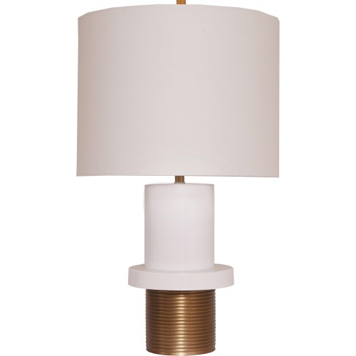 Monique Table Lamp - White/Gold