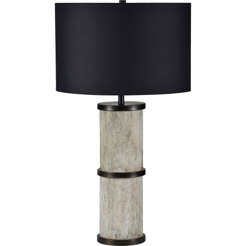 Walden Table Lamp - Dark Bronze/White Wash