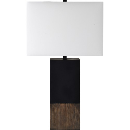 Table Lamp - Natural/Matte Black