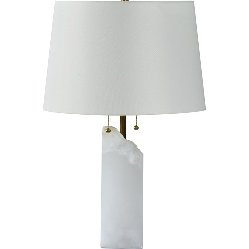 Ward Table Lamp - White Marble