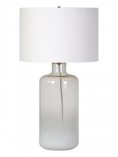 Snowfall Table Lamp - White ombre