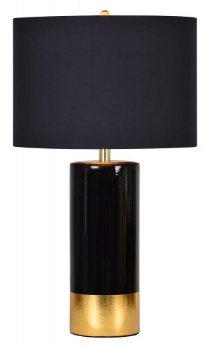 The Tuxedo Table Lamp - Black/Gold