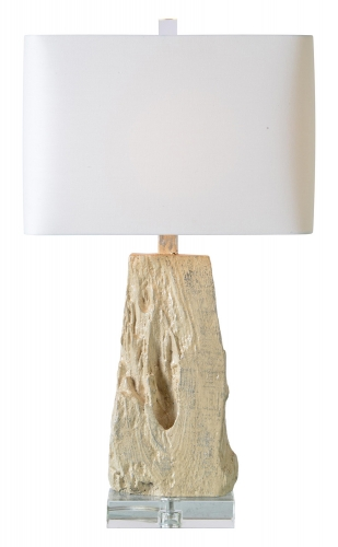 Heath Table Lamp - Silver Leaf/Cream