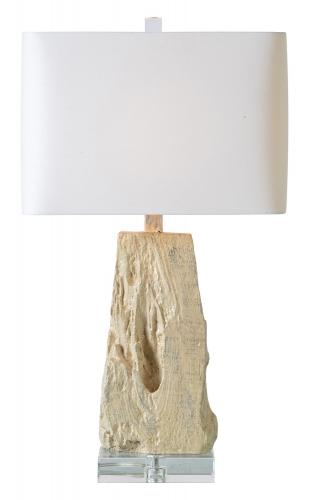 Heath Table Lamp - Silver Leaf/Cream