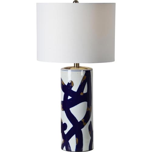Cobalt Table Lamp - Blue/White