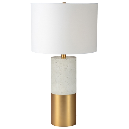 Liberty Table Lamp - Cement/Satin Brass
