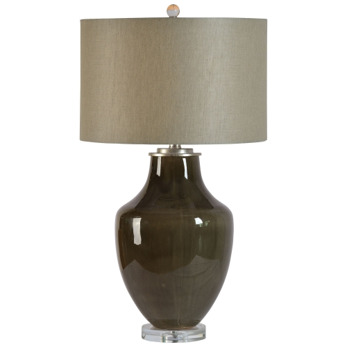 Camelot Table Lamp - Grey Glossy/Clear