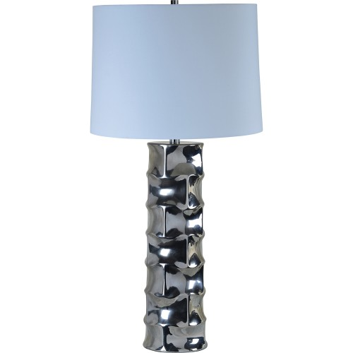 Quenby Table Lamp - Silver Plated