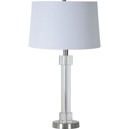 Sealey Table Lamp - Brushed Nickel