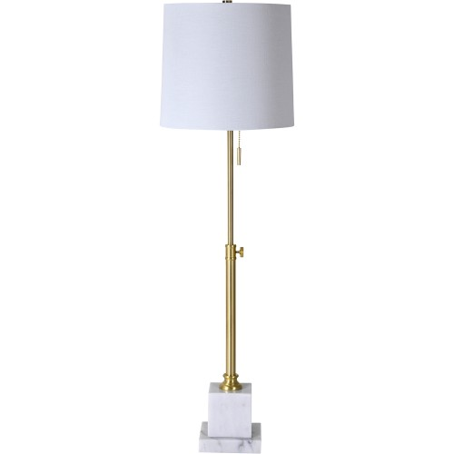 Skeet Table Lamp - White Marble