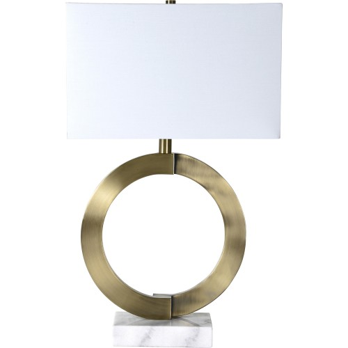 Skylar Table Lamp - White Marble