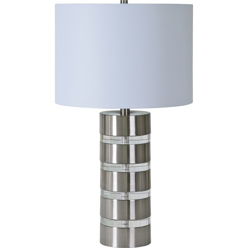 Solomon Table Lamp - Brushed Nickel/Clear