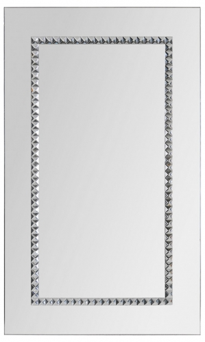 Portrait Embedded Jewels Mirror - Chrome