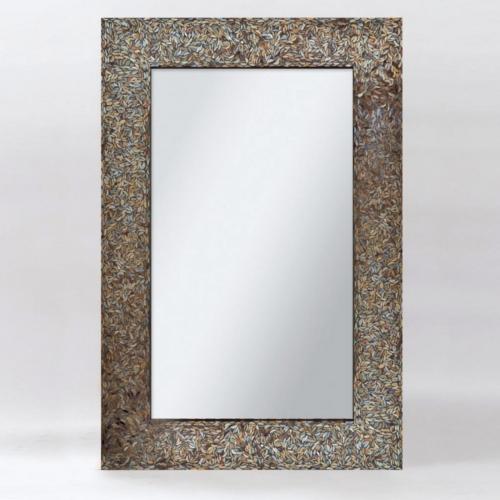 Amber Mosaic Mirror - Black Mosaic