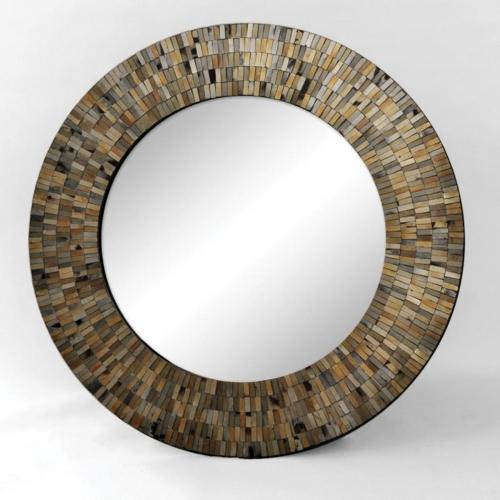 Aventurine Mirror - Black Mosaic