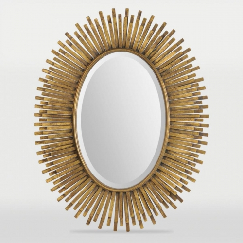 Sparta Mirror - Antique Gold Leaf