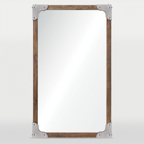 Advocate Mirror - Satin Nickel