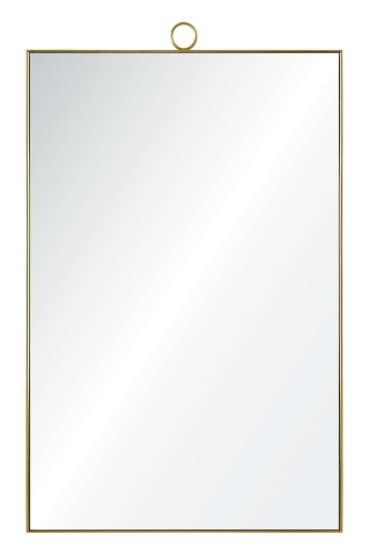 Vertice Mirror - Brass