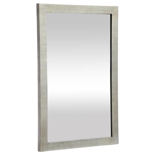 Emery Mirror - Silver Leaf