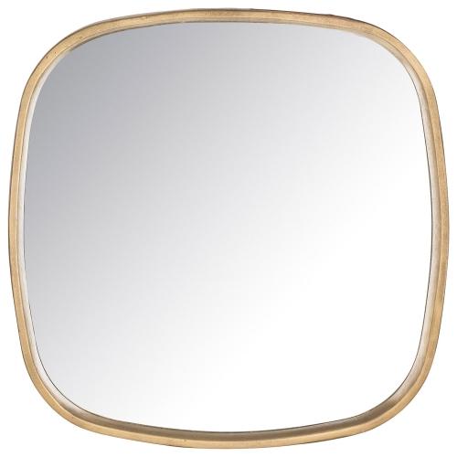 Amherst Square Mirror - Brass Antique