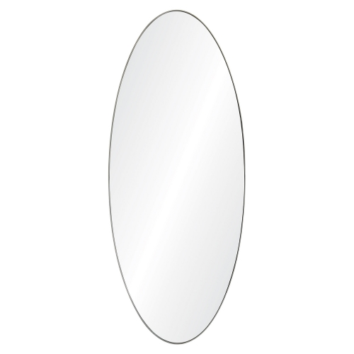 Oakfield Oval Mirror - Antique Brushed Silver
