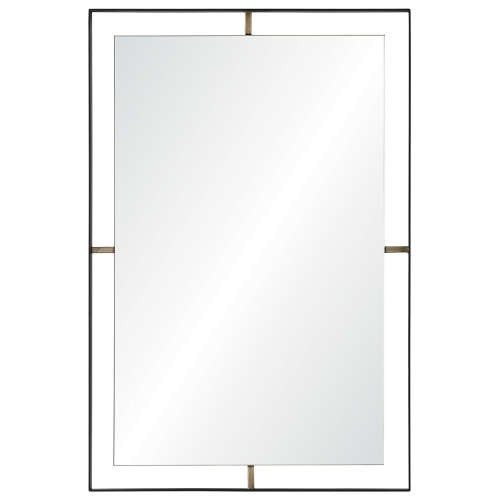 Heston Rectangular Mirror - Matte Black