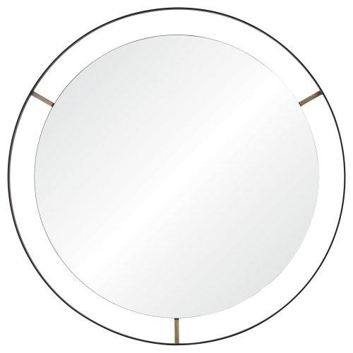 Jericho Round Mirror - Matte Black