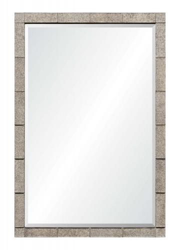 Adevon Rectangular Mirror - Antique Silver