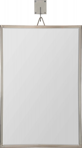 Ronan Rectangular Mirror - Pewter Plated