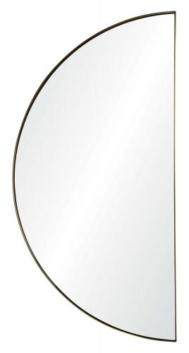 Halfmoon Semicircle Mirror - Satin Brass
