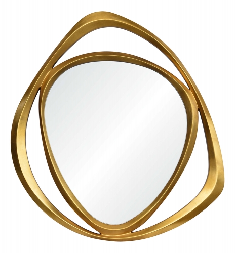 Goldie Triangle Mirror - Gold Leaf