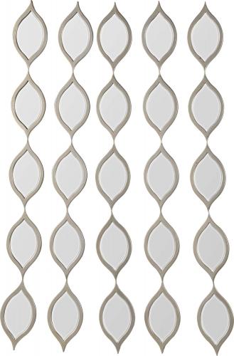 Vinte Irregular Mirror - Champagne Silver Leaf