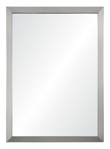 Maverick Rectangular Mirror - Satin Nickel Plated
