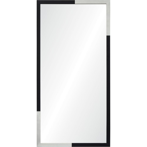 Waltham Rectangle Mirror - Silver/Black