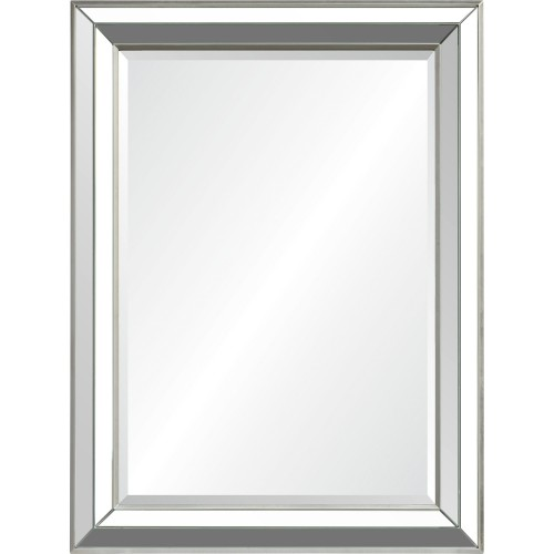 Hawkwell Rectangle Mirror - Sliver Leaf